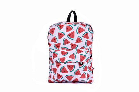 Watermelon Printed Backpack - qaafgallery
