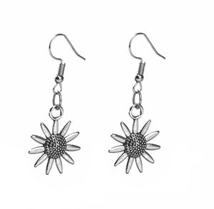 Silver Flora Earrings - qaafgallery