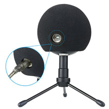 Load image into Gallery viewer, 1 Pc Foam Mic Cover Artificial Fur Mic Windscreen Muff for Blue Snowball Microphone 13.5+11.5+7.5cm