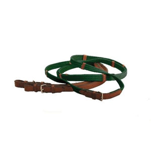 Leather and Cotton English Reins