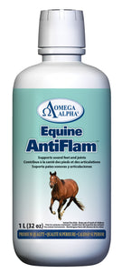 OmegaAlpha Antiflam supports sound feet and joints, Available at Tack in the Box