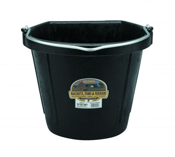 Little Giant Flat Back Rubber Bucket
