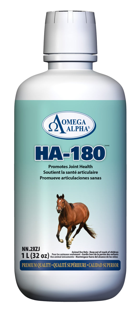 OmegaAlpha HA-180™, Promotes healthy joints, Available at Tack in the Box