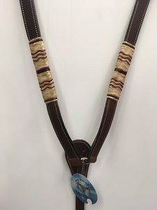 Rawhide wrapped breast collar