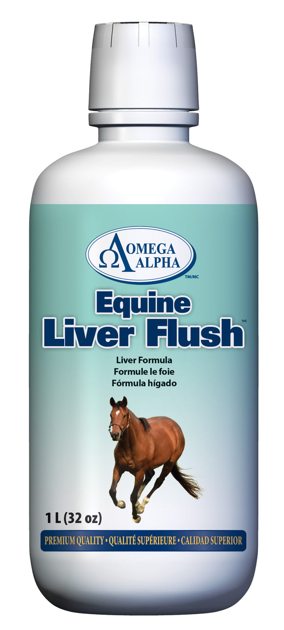 OmegaAlpha Equine Liver Flush™ Liver Support Formula, Supports normal liver function Available at Tack in the Box