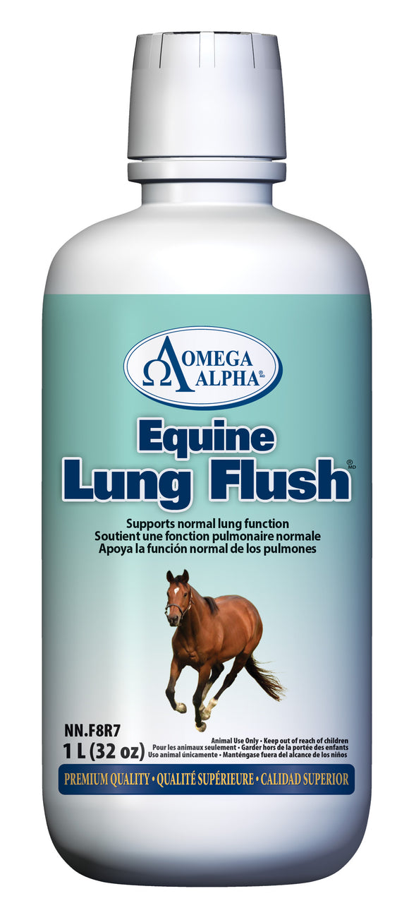 OmegaAlpha Equine Lung Flush™, Lung Support Formula, supports normal lung function, available at Tack in the Box
