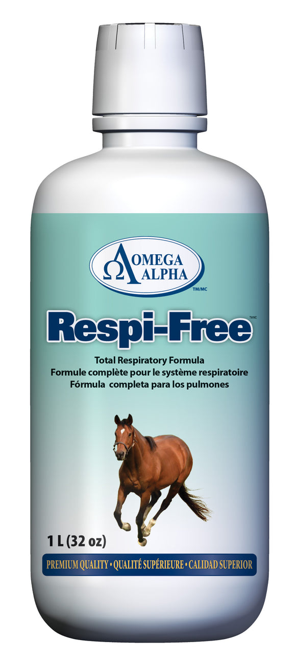 OmegaAlpha Respi-Free™, Total Respiratory System Formula, Available at Tack in the Box