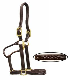 Loveson Padded Leather Halter