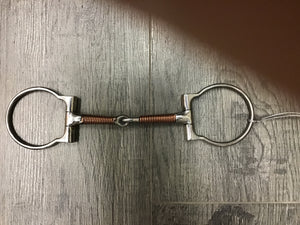 Coronet Copper Wrapped Snaffle D Ring Bit