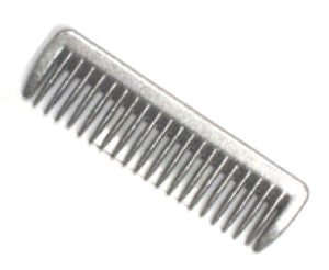Aluminum comb, perfect for pulling your horses mane. Available at Tack in the Box
