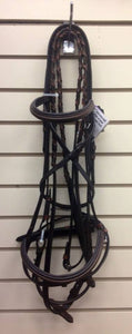 Pro Am Snaffle Bridle with Flash- Full - Tack In The Box