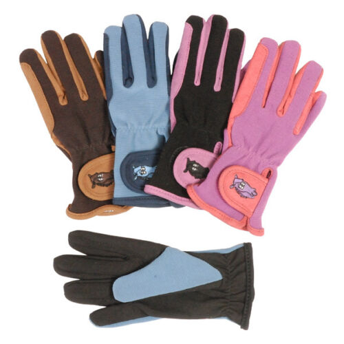 Tough 1 Embroidered Kid's Riding Gloves