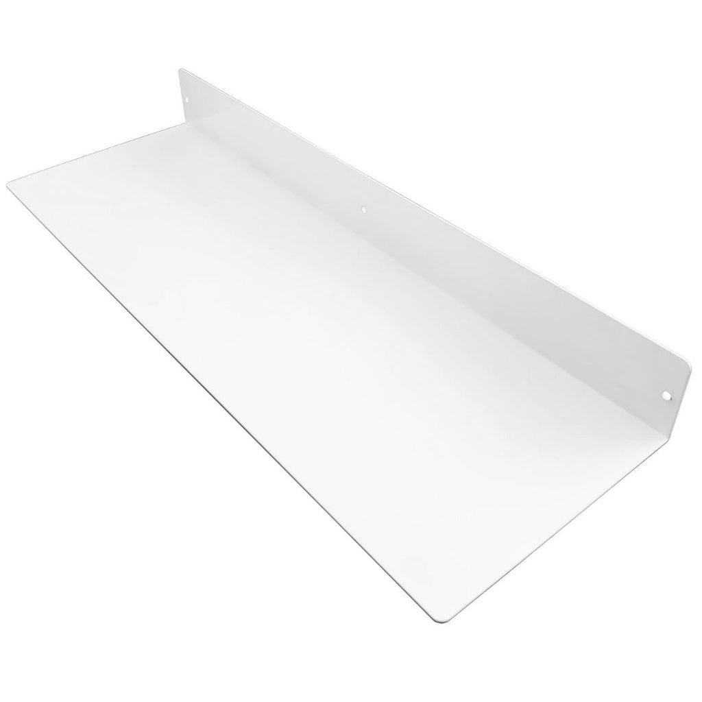 "Powder Coated Industrial Forged Steel Linear Floating Shelf - (Colors: Black, White, & Gold) (Sizes: 12"", 24"", 36"", 48"") Industrial Steel (USA) diycartel 24in x 8in Matte White"