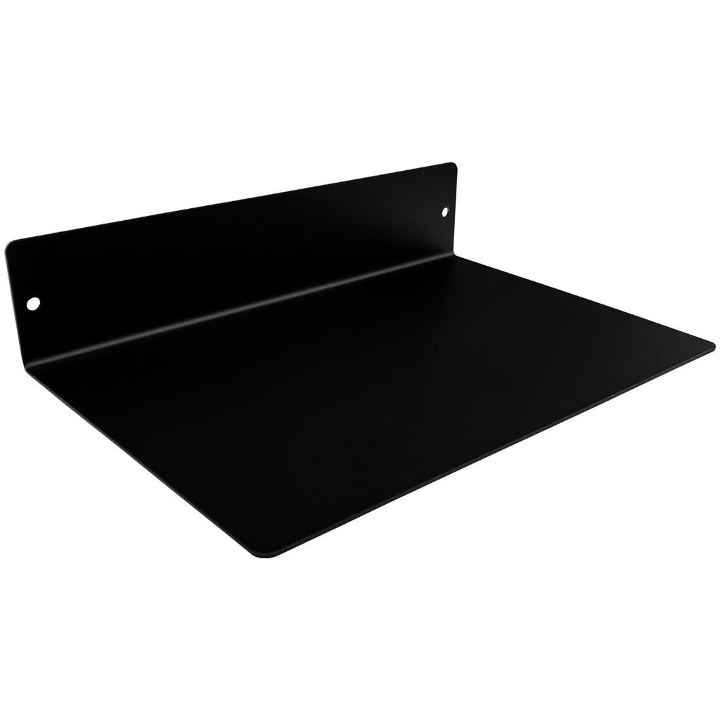 "Powder Coated Industrial Forged Steel Linear Floating Shelf - (Colors: Black, White, & Gold) (Sizes: 12"", 24"", 36"", 48"") Industrial Steel (USA) diycartel 12in x 8in Matte Black"