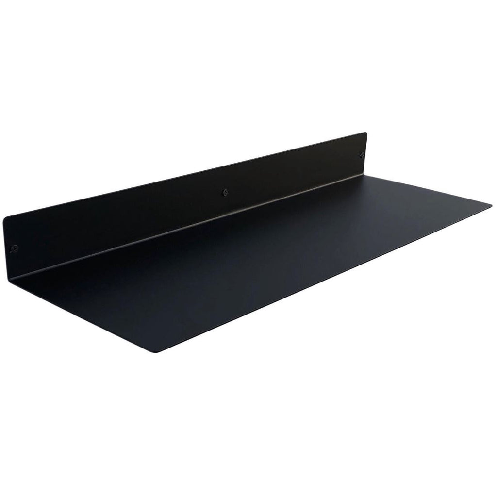 "Powder Coated Industrial Forged Steel Linear Floating Shelf - (Colors: Black, White, & Gold) (Sizes: 12"", 24"", 36"", 48"") Industrial Steel (USA) diycartel 24in x 8in Matte Black"