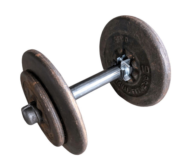"Industrial Pipe Adjustable Dumbbell & Barbell (Size: 8"", 48"") Industrial Pipe (Iron) diycartel 8in Dumbell"