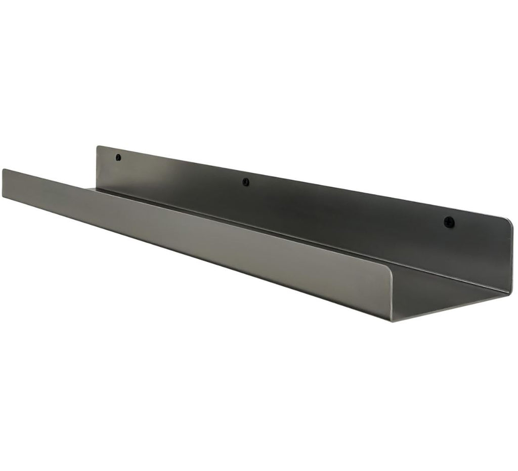 "Industrial Forged Steel Floating Shelf Ledge (Size: 24"" & 48"") Industrial Steel (USA) diycartel 24-Inch"
