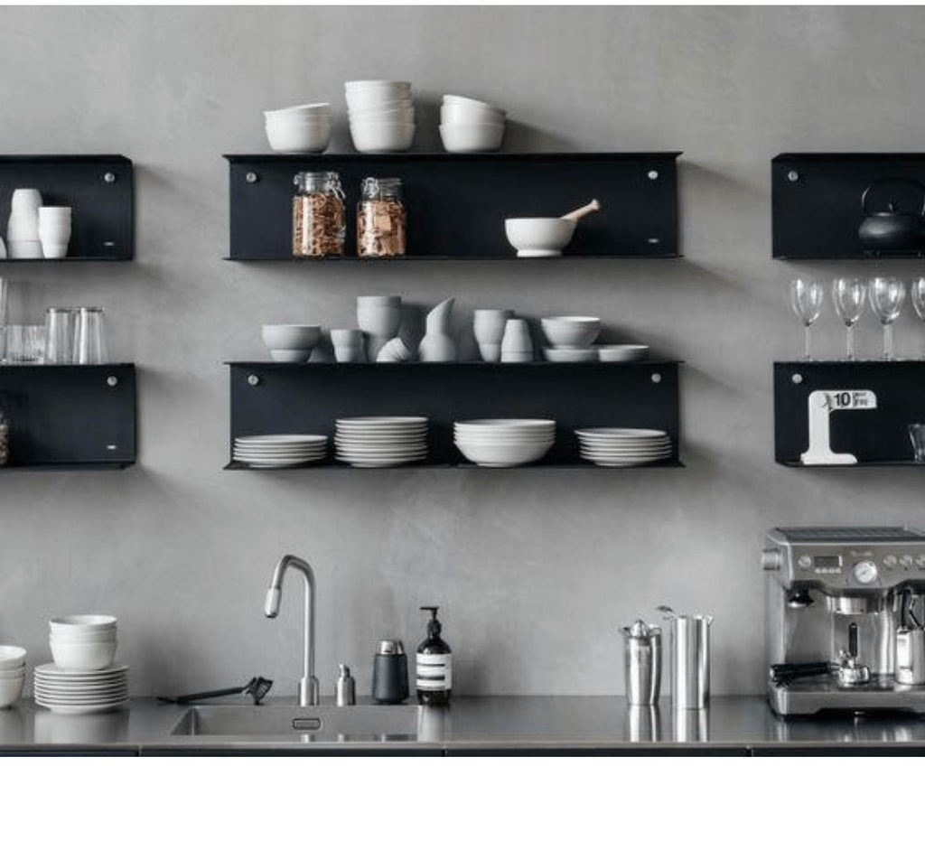 Industrial Steel Floating C/ U Shelf - Powder Coated Matte Black Industrial Steel (USA) diycartel