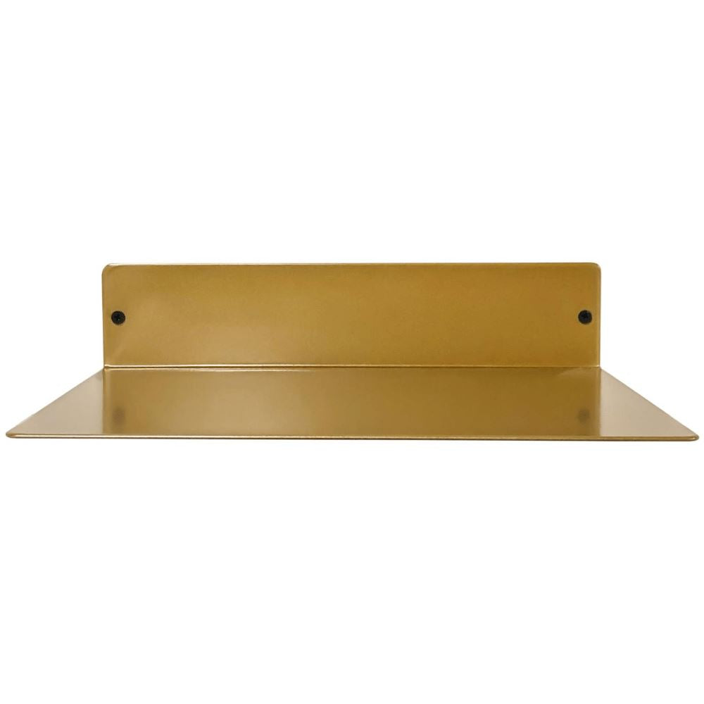 "Powder Coated Industrial Forged Steel Linear Floating Shelf - (Colors: Black, White, & Gold) (Sizes: 12"", 24"", 36"", 48"") Industrial Steel (USA) diycartel 12in x 8in 12LinearGold"