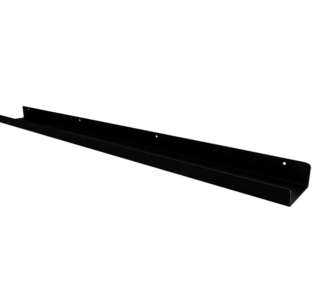 "Powder Coated Industrial Steel Floating Shelf Ledge - (Colors: Black & White) (Sizes: 24"" & 48"") Industrial Steel (USA) diycartel 48-Inch Matte White"