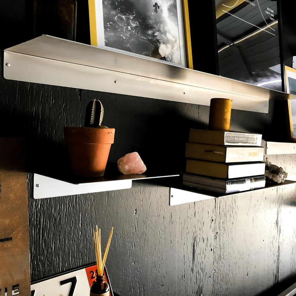 "Industrial Forged Steel Linear Floating Shelf (Size: 12"", 24"", 36"", 48"") Industrial Steel (USA) diycartel"