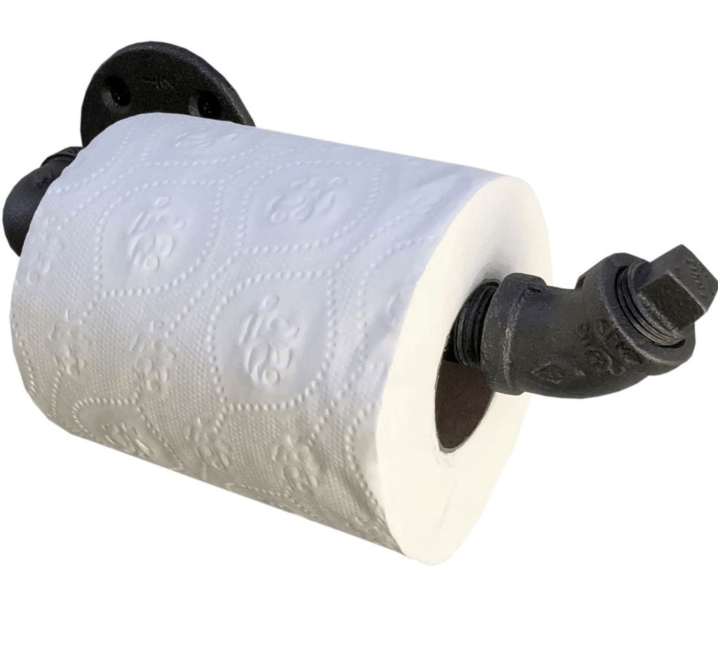 Industrial Pipe Toilet Paper Holder (3 styles) diycartel 45 degree