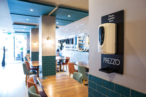 Eat Out To Help Out - Prezzo Sanitising Station