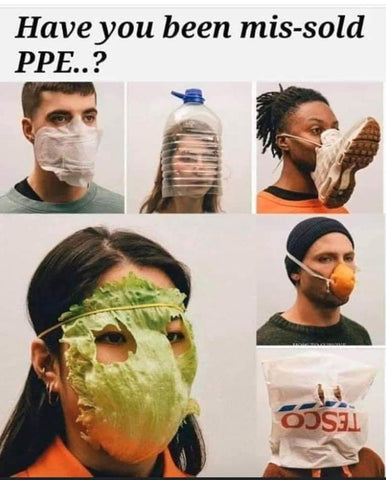 Mis sold ppe face mask