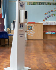 Automatic sanitiser stations for schools