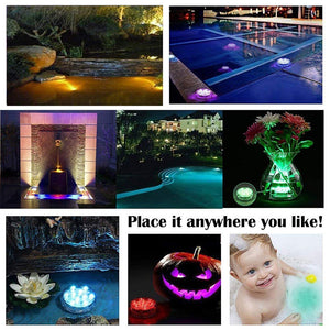 LED Remote Controlled RGB Submersible Light