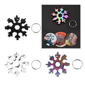 Snowflake multifunction tool keying