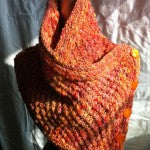 Bobble Knit Cowl