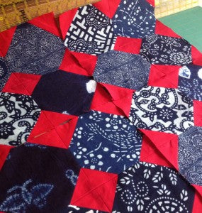 On the Needles: Indigo Quilt