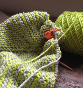 On the Needles: Neon Sawtooth Scarf