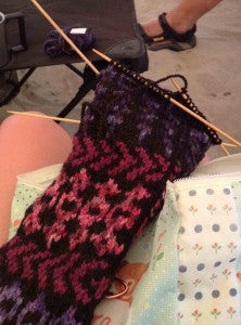 On the Needles: River Knitting