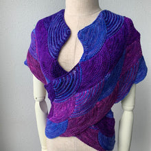 Load image into Gallery viewer, Fishy Fish Shawl Free Knitting Pattern - Infinite Twist