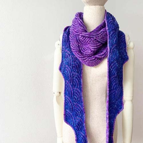 Minnow Shawl Free Knitting Pattern - Infinite Twist