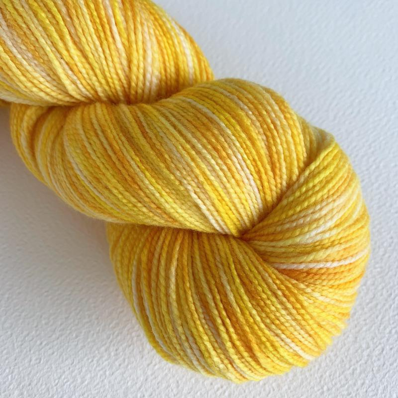 Sunflower - Helix SuperWash and Sock!-Yarn-by-infinite-twist