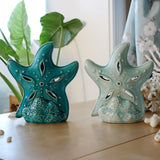 Creative starfish Candle Holder ceramic home decor crafts room decoration romantic candlelight dinner Wedding Candlestick gifts