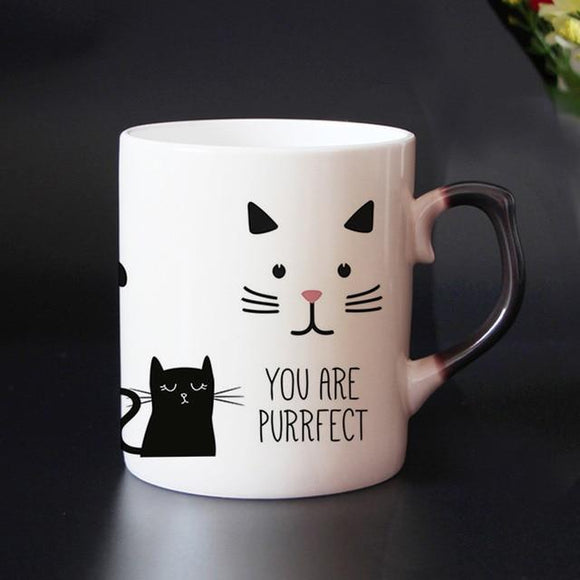 Dropshipping 10 designs Unicorn and cat Heat senstive color changing Coffee mugs cup Ceramic magic  tea cups supprised gift