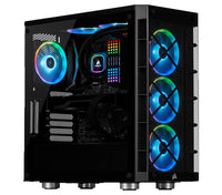 Ultimate Corsair iCue 465X Black Desktop Gaming PC Computer AMD Ryzen 5 16GB DDR4 4GB Graphics Card