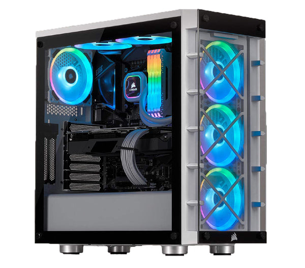 Ultimate Corsair iCue 465X White Desktop Gaming PC Computer Intel i7 16GB DDR4 Ram 4GB Graphics Card