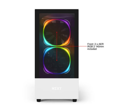 NZXT H510 Elite Desktop Gaming PC Computer AMD Ryzen 9 32GB DDR4 4GB Graphics Card