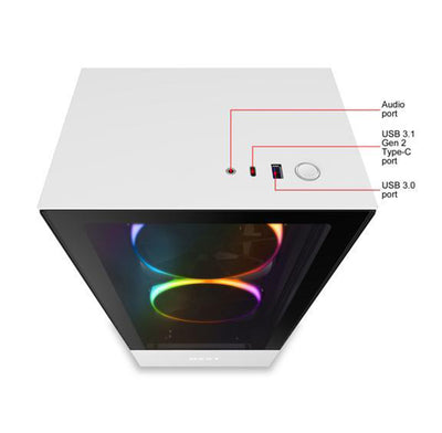 NZXT H510 Elite Desktop Gaming PC Computer AMD Ryzen 7 16GB DDR4 4GB Graphics Card
