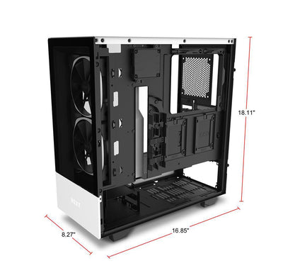 NZXT H510 Elite Desktop Gaming PC Computer Intel i7 16GB DDR4 Ram 4GB Graphics Card