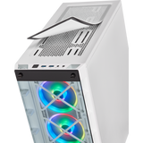 Ultimate Corsair iCue 465X White Desktop Gaming PC Computer Intel i3 16GB DDR4 GeForece 4GB 1050 TI