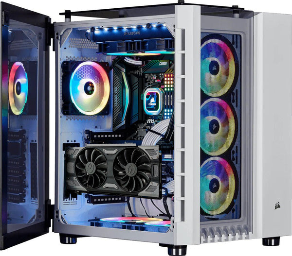 Corsair Crystal Series 680x RGB White Desktop Gaming PC Computer AMD Ryzen 5 32GB DDR4 Ram 4GB Graphics Card