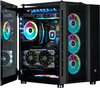 Corsair Crystal RGB Black Desktop Gaming PC Computer AMD Ryzen 5 32GB DDR4 Ram 4GB Graphics Card