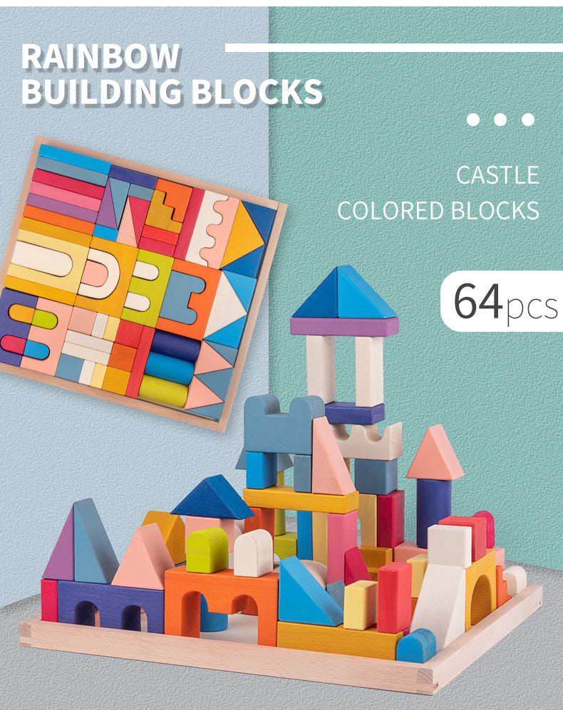 Castle Kingdom Wooden Block Building Set