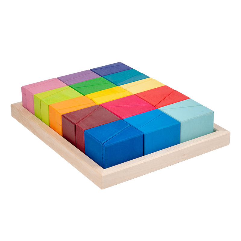 Trapezoidal Wooden Building Block Set